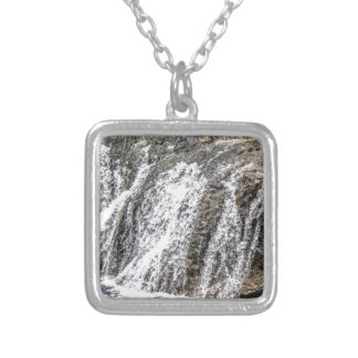 fresh falls in the forest silver plated necklace