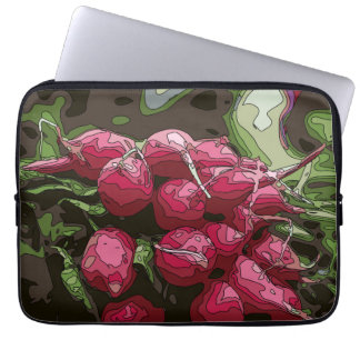 Fresh Farmers Radishes Ready for Cooking Laptop Computer Sleeve