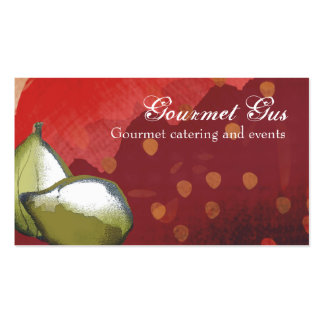 fresh figs fruit chef catering business cards, ... pack of standard business cards