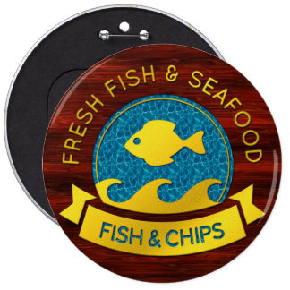 Fresh Fish Seafood 1 Buttons