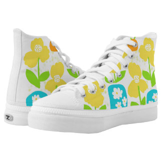 Fresh floral pattern printed shoes
