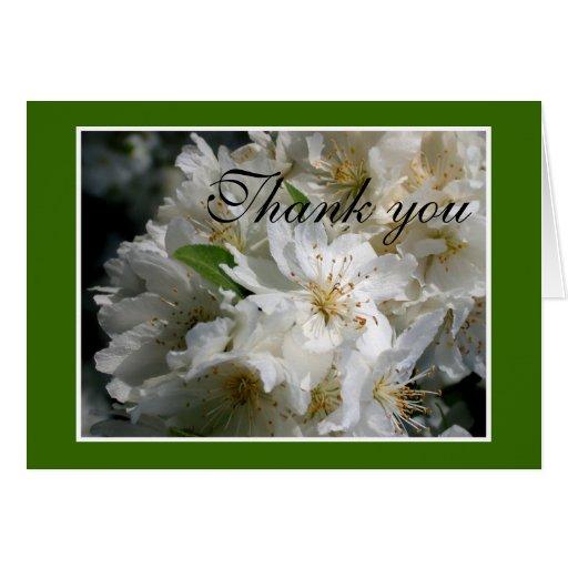 Fresh floral Thank-You card