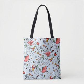 Fresh floral vines tote bag