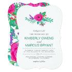 Fresh Florals Wedding Invitation / Floral Back
