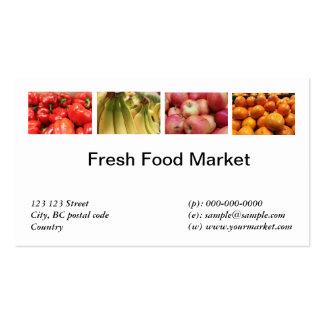Fresh food fruits vegetable market business card templates