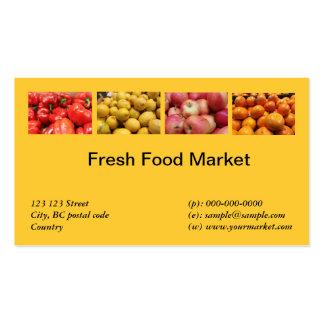 Fresh food fruits vegetable market business card