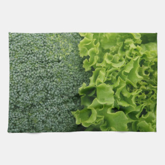 Fresh Food Lettuce and Broccoli Tea Towel