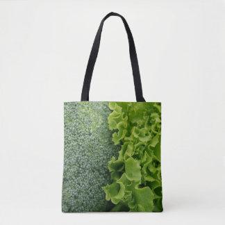 Fresh Food Lettuce and Broccoli Tote Bag