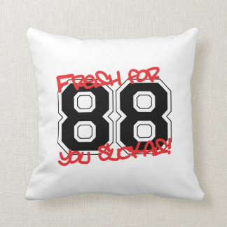 Fresh for '88 throw pillow