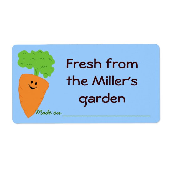 Fresh from the Garden Produce Label