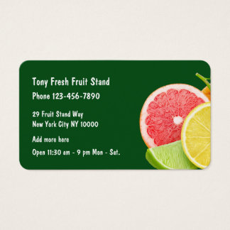 Fresh Fruit Business Business Card