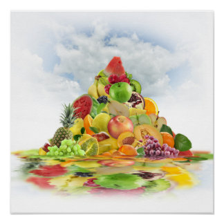 Fresh Fruit Pyramid Poster