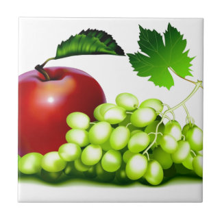 Fresh Fruit Small Square Tile