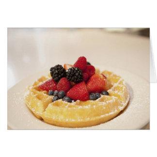 Fresh fruit waffle greeting card
