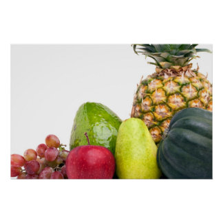 Fresh Fruits and Vegetables Layout Poster