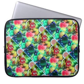 Fresh Fruits on Neoprene Laptop Sleeve 15 inch Laptop Sleeves