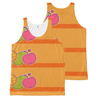 Fresh Fruits Orange All-Over Print Tank Top