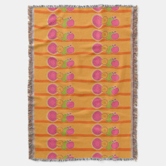 Fresh Fruits Orange Throw Blanket