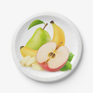 Fresh fruits paper plate