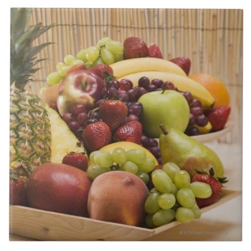 Fresh fruits tiles