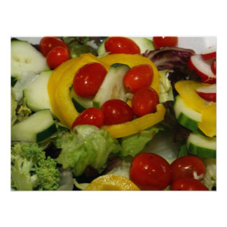 Fresh Garden Salad Poster