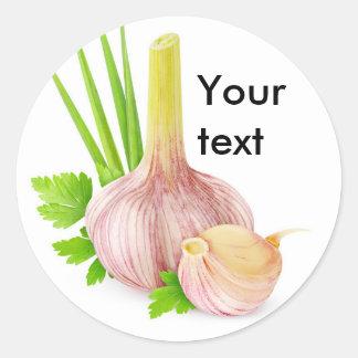 Fresh garlic classic round sticker
