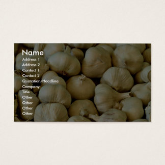 Fresh garlic Photo Business Card