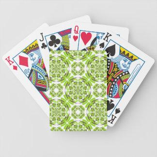 Fresh geometric pattern bicycle playing cards