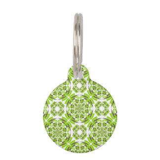 Fresh geometric pattern pet tag