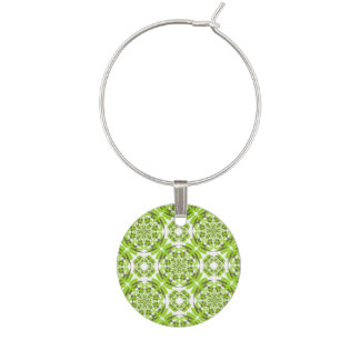 Fresh geometric pattern wine charm