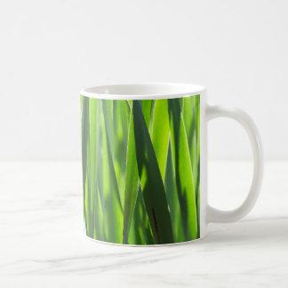 Fresh grass close up mugs