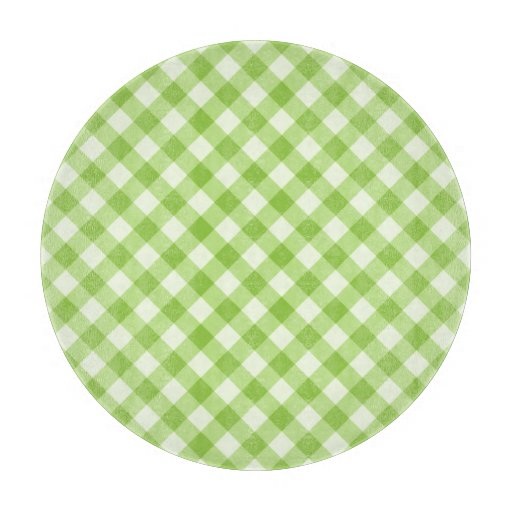 Fresh, green gingham pattern cutting boards