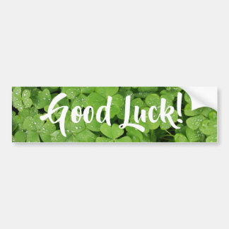 Fresh green shamrock good luck bumper stickers