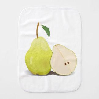 Fresh Green Skinned Pear Burp Cloth