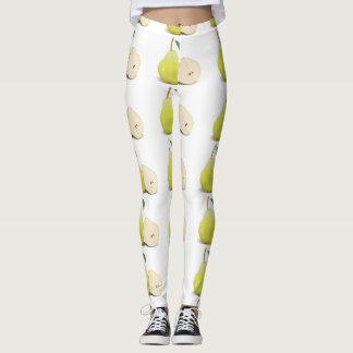 Fresh Green Skinned Pear Leggings