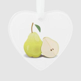 Fresh Green Skinned Pear Ornament