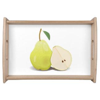 Fresh Green Skinned Pear Serving Tray