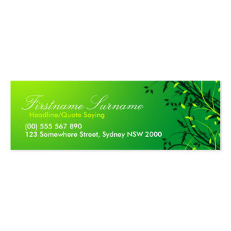 Fresh Green Vines Leaves compact cards Pack Of Skinny Business Cards