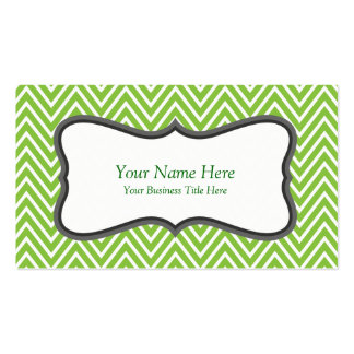 Fresh Green Zigzag Chevron Pattern Pack Of Standard Business Cards