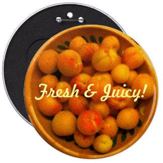 Fresh Juicy Apricots Button