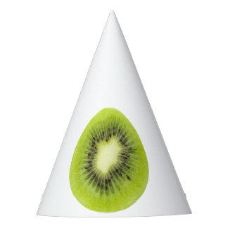 Fresh kiwi fruit. Round slice closeup isolated Party Hat