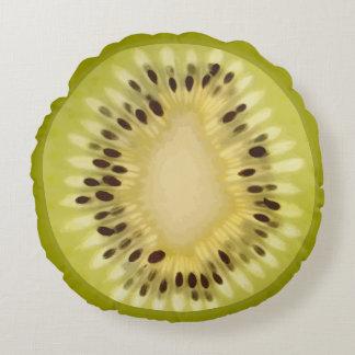 Fresh Kiwi Slice Round Cushion
