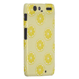fresh lemon fruit pattern motorola razr droid RAZR cases