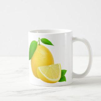 Fresh lemon basic white mug