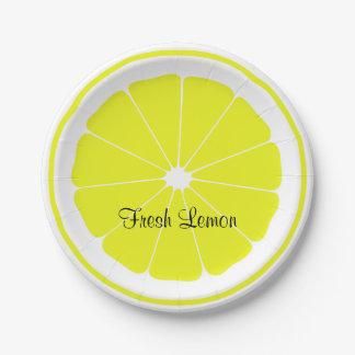 Fresh Lemon Paper Plate