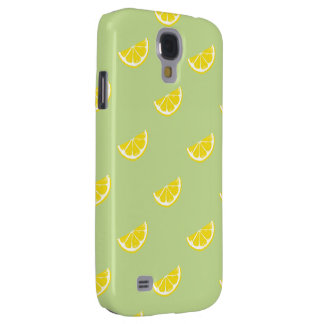 fresh lemon pattern samsung galaxy S4 Galaxy S4 Case