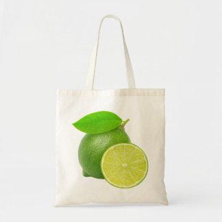 Fresh lime budget tote bag