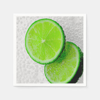 Fresh Lime Fruit Sparkling Water Disposable Napkins