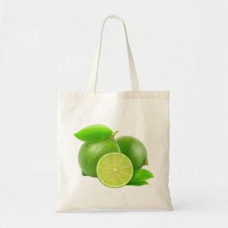 Fresh limes budget tote bag