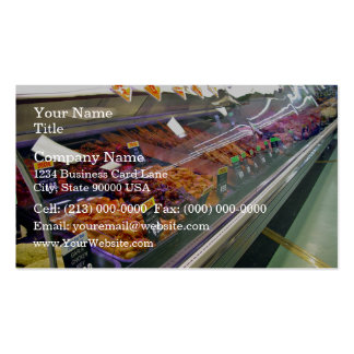 Fresh Meat Deli Counter at supermarket Double-Sided Standard Business Cards (Pack Of 100)